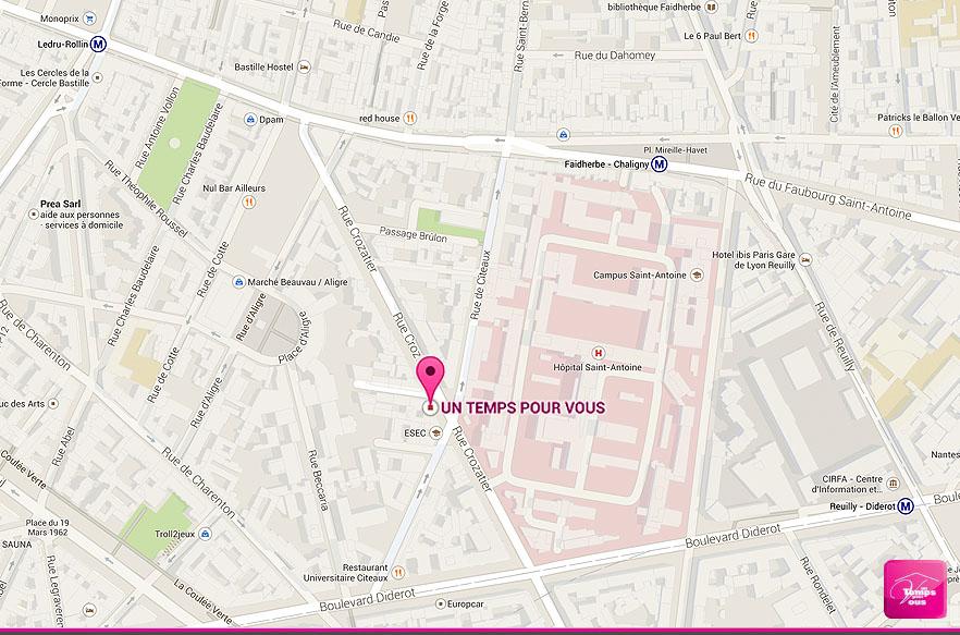 Agence de Paris 12e - Un temps pour Vous, le plan
