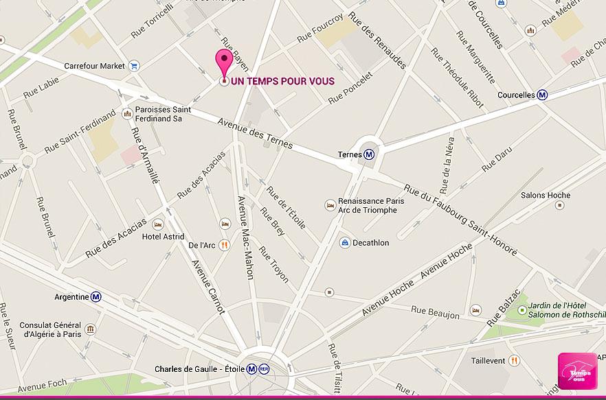 Agence de Paris 17e - Un Temps pour Vous - La carte